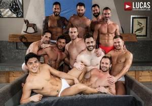 video 11-Man Bareback Guy Pile