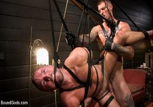 Video Captive slave Alex Hawk submits to Daddy Dane Stewart