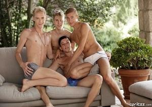 video Bareback twink orgy with masses of cum – Part 2 – Kris, Ray, Ruben, Xavier