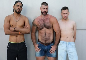 video Jose, Philippe and Tahar – A full day – Part 1 (Bareback)