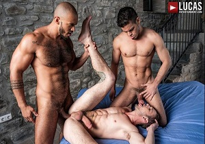 video Rico Marlon And Louis Ricaute Bareback Drake Rogers