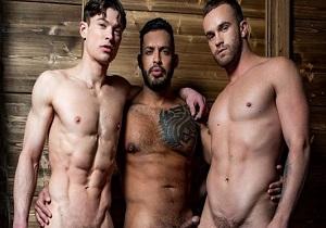 video Viktor Rom Drills Jackson Radiz And Ruslan Angelo (Bareback)