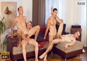 video Wank Party #98, Part 2 RAW – Kristof Trnka, Petr Ujen, Petr Jarena & Tomas Salek (Bareback)