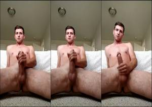 video Nathan, Handsome Hetero Shows His Cock During A Webcam Session