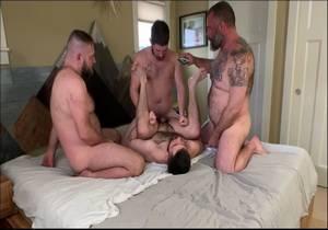 video RealMenFullBush Sexgroup Part 1