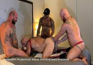 Video FOUR WAY FISTING ORGY WITH ROGUE STATUS AND CHRIS WYDEMAN