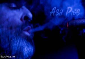 video ASH PIGS – Cigar Smoking Leather Daddy Breaks in His Hairy Muscle Slave – Kristofer Weston & Brendan Patrick
