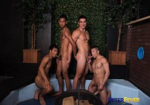 video Alec Cruz, Axel Kane, Jessie Lee, John Rene – Sexy Rich Gaysians 6 : Here Cum the Grooms