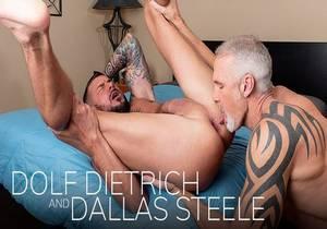 video Dolf Dietrich and Dallas Steele – Dripping (Bareback)