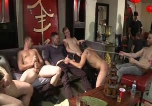 Eli Hunter – Part 2 (34971) – Horny crowd mercilessly gang fucks a bound hung stud against his will