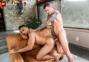 video J Anders Rides Geordie Jacksons Raw Cock