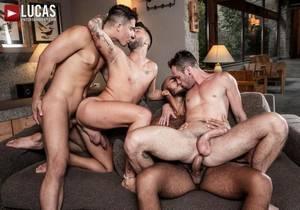 video Louis, Apolo, Drake, And Andreas Ass-Splitting Foursome