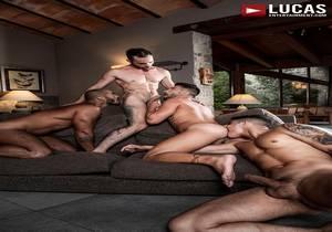 video Louis, Apolo, Drake, And Andrea's Ass-Splitting Foursome (Bareback)