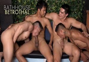 video Sexy Rich Gaysians 5, Bathhouse Betrothal – Jessie Lee, Alec Cruz, Axel Kane & John Rene