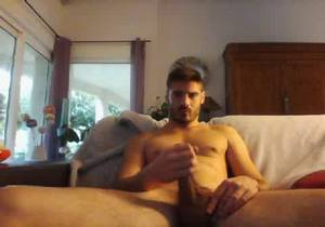 video Pierre, sexy str8 guy shows his cock on cam