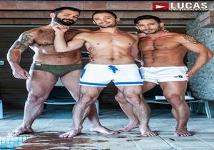 video Victor D'Angelo, Drake Rogers, Andy Star – Poolside Breeding (Bareback)