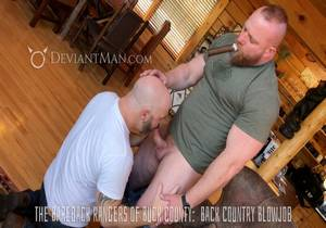 video The Bareback Rangers Of Buck County Pt2 Back County Blowjob – Eisen Loch & Jake Dakota