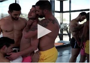 Sharing Allen King's Hole – Allen King, Arad Winwin, Edji Da Silva & Rico Marlon's bareback orgy