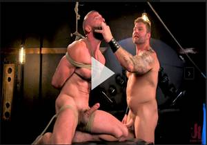 Leather & Latex – Muscle Stud Colby Jansen Dominates Donnie Argento