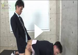 Increasing popularity! A beautiful boy with a huge cock has been dug in a blazer ♪