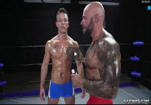 """Nic Sahara, Jason Collins """"Learning How to Wrestle and Fuck"""""""