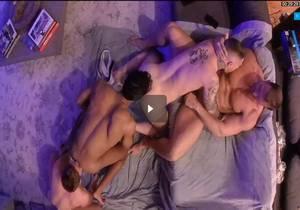 Full length overhead orgy Austin Wolf, Danny Gunn, Jay Alexander & Gabriel Cross