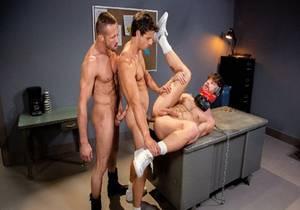 Submission Prison, Scene #02 – Nate Grimes, Drew Dixon & Myles Landon