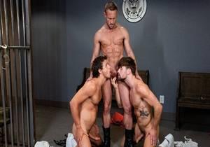 Submission Prison, Scene #01 – Nate Grimes, Drew Dixon & Myles Landon