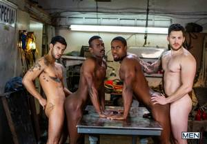 MEN – Tom Of Finland – Service Station – River Wilson, Ricky Roman, Matthew Camp & DeAngelo Jackson