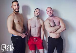 Day of loads for Quentin (with Dimitri Venum and Shain) [Bareback]