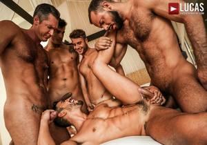 Marco Antonio And Sir Peter Lead A Five-Man Fuck (Bareback)